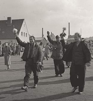 Reception of POWS released from the Soviet Union, 17.10.1955
